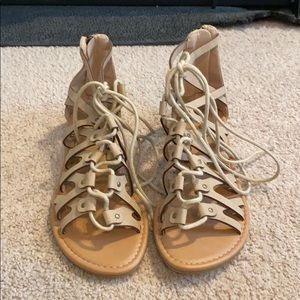 Soda lace up sandals